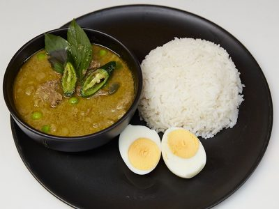 Beef green curry